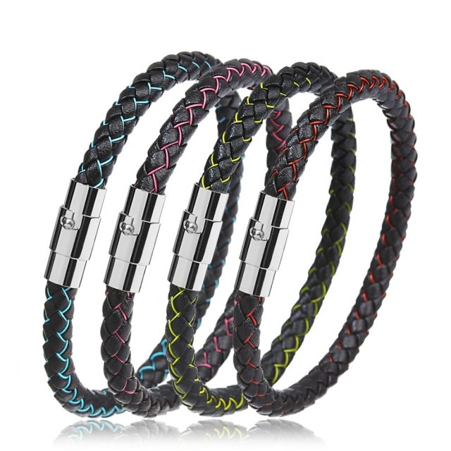 Unisex Braided Leather Bracelet