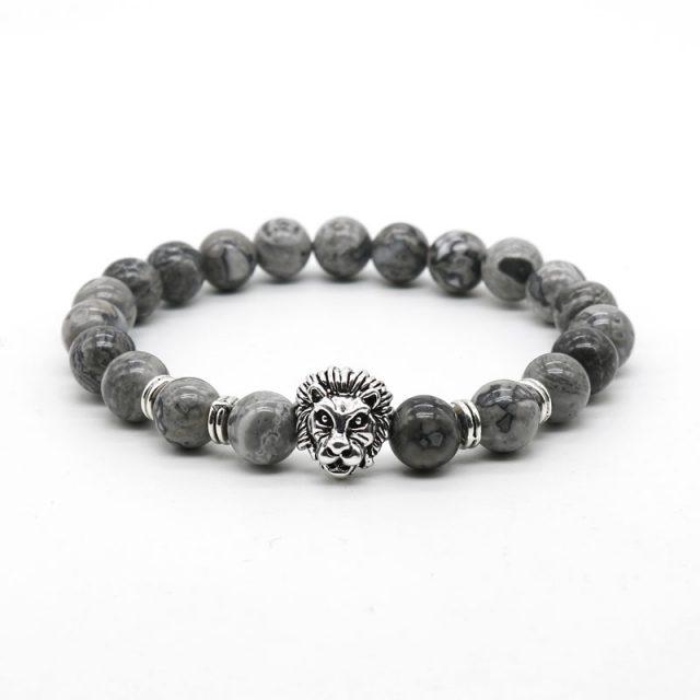 Fashion Beaded Natural Stone Charm Bracelet