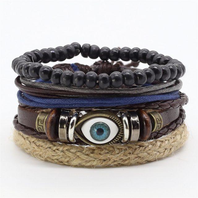 Cute Handmade Multilayered Leather Charm Bracelet