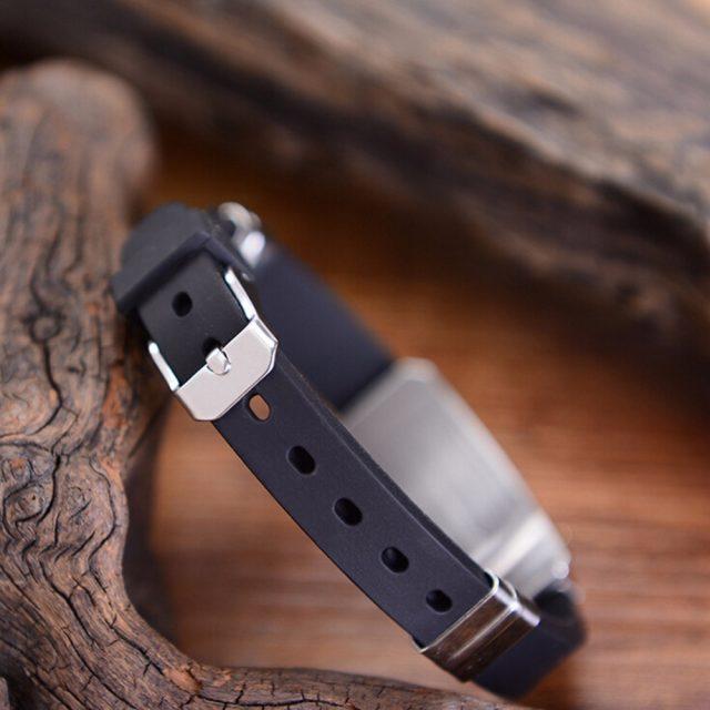 Men's Leather Bracelet with Cross