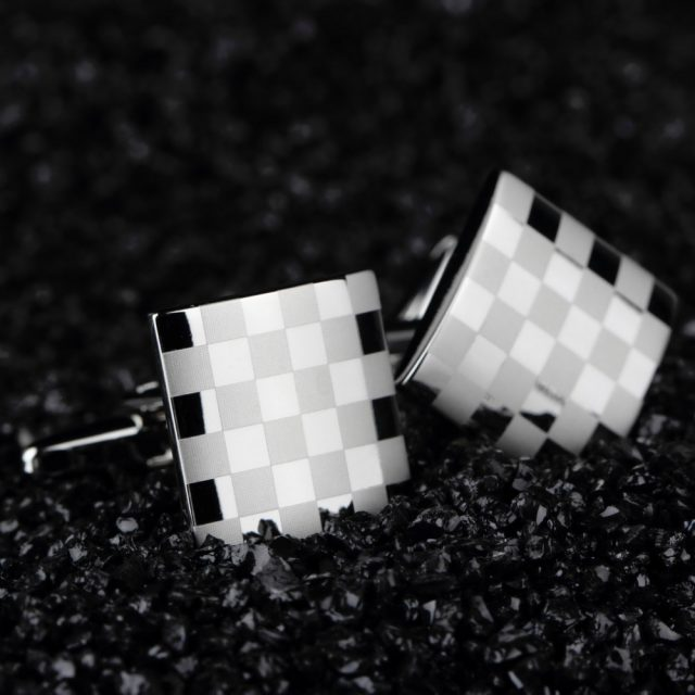 Men's Silver Cuff Links