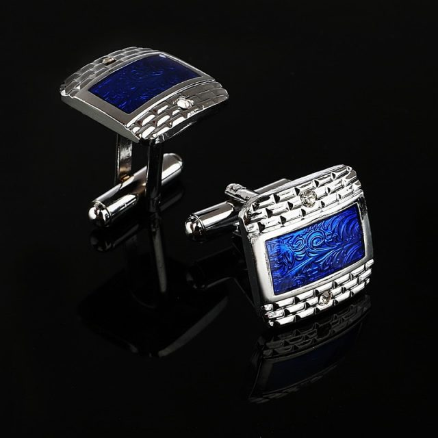 Luxury Navy Blue Cufflinks