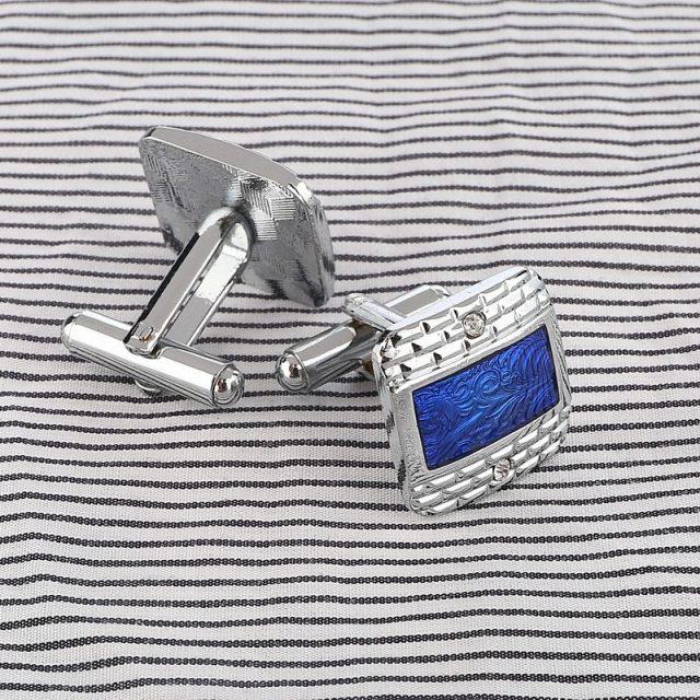 Luxury Navy Blue Cufflinks