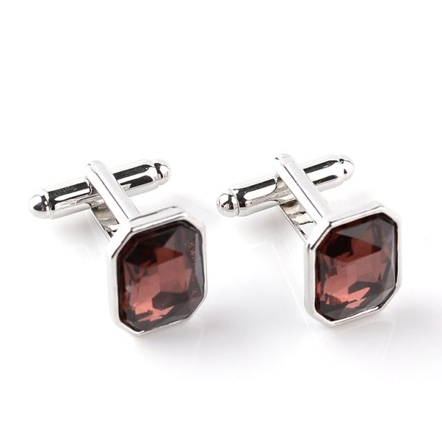 Men's Square Crystal Cufflinks