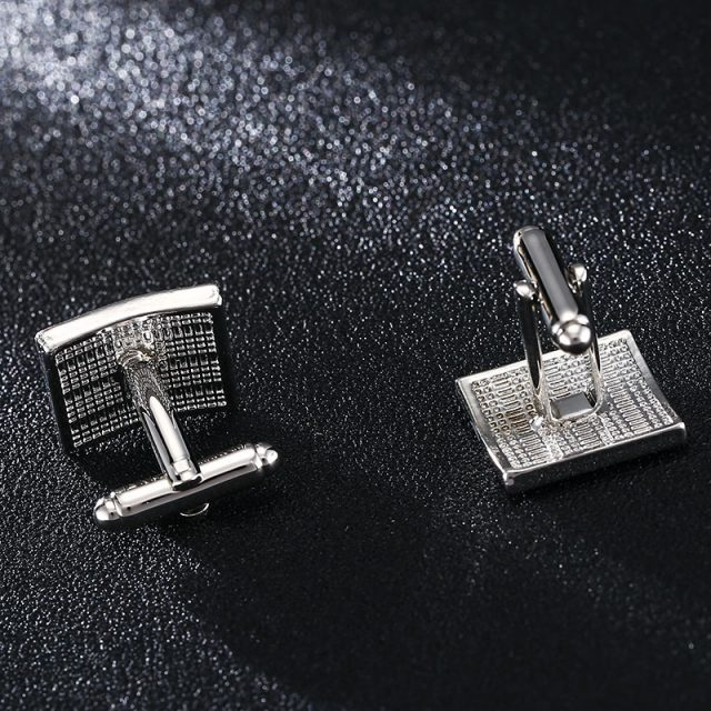Solid Black Square Cufflinks