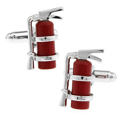Men's Funny Party Fire Extinguisher Cufflinks