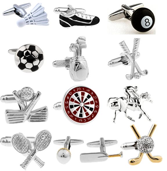 Stylish Men's Sport Lover Cufflinks
