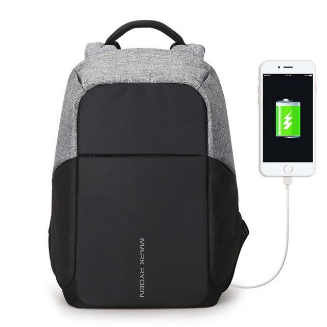 Patchwork Patterned USB Backpack