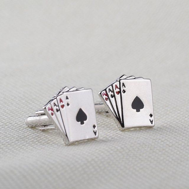 Poker Cufflinks for Men