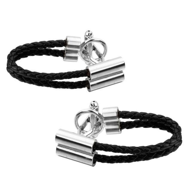 Black Rope Cufflinks for Men