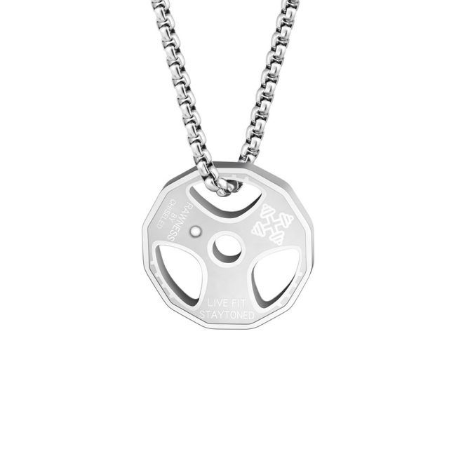 Men's Weight Plate Pendant Necklace