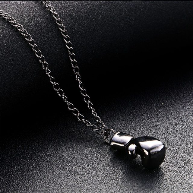 Men's Retro Style Chain Necklace with Boxing Glove Shaped Pendant