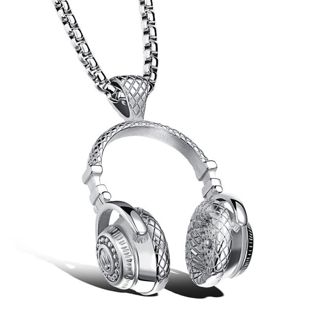 Men's Headphones Pendant Necklace