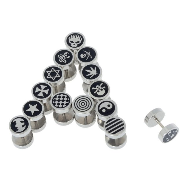 Fashion Stainless Steel Men's Studs Earrings