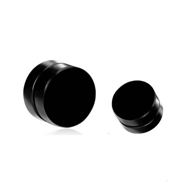 Magnet Black Clip Earrings for Men