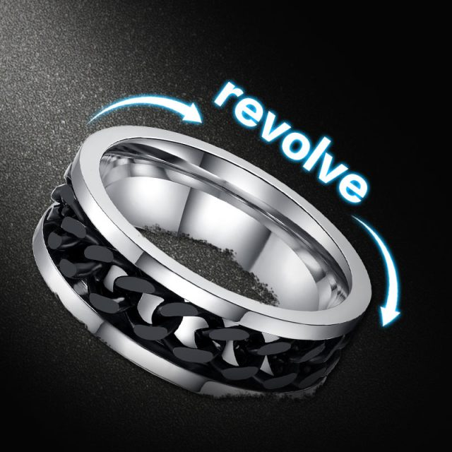 Men's Stainless Steel Chain Ring