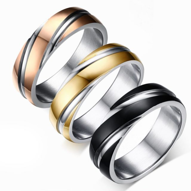 Stainless Steel Wedding Ring for Men