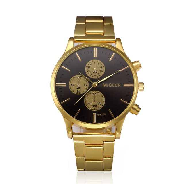 Luxury Vintage Gold Wristwatch for Men