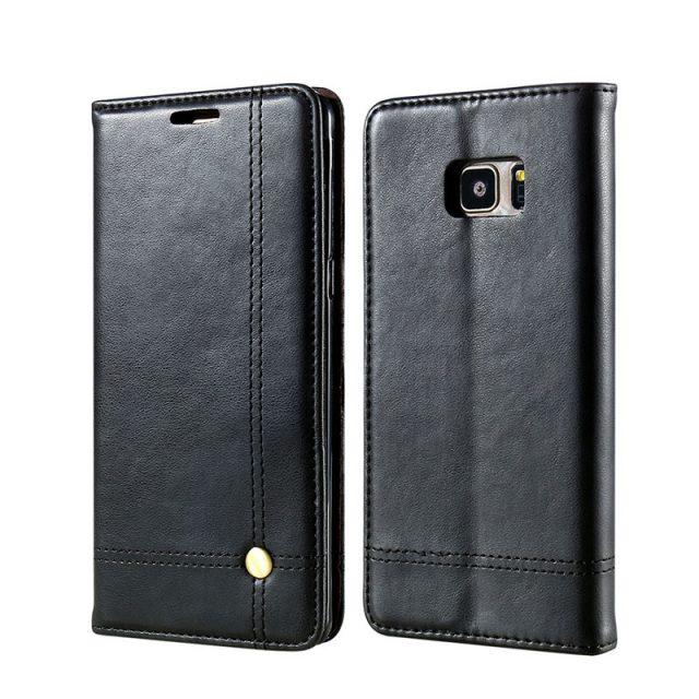 Luxury Anti-Knock Men's PU Leather Phone Case