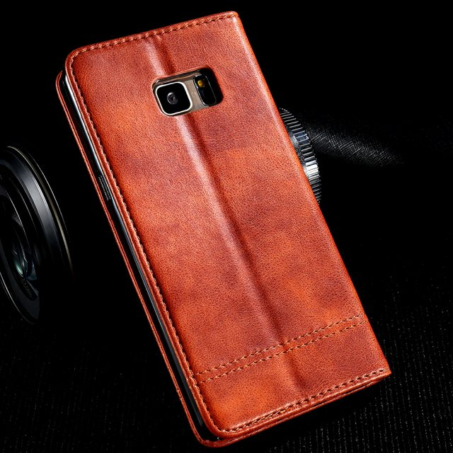 Luxury Anti-Knock Men's PU Leather Phone Case