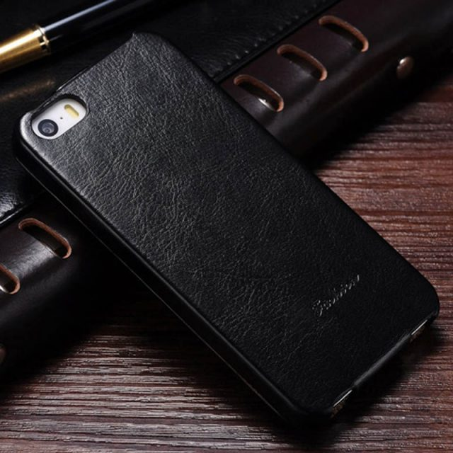 Fashion Leather Flip Case for iPhone 5 & 5S