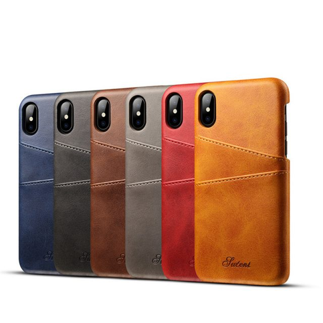 Slim PU Leather Phone Cases for iPhone