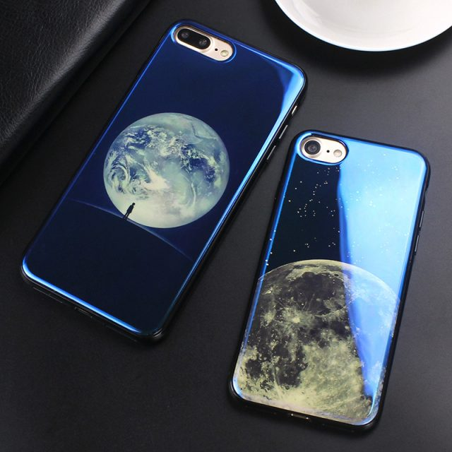 Glossy Moon Printed Phone Case