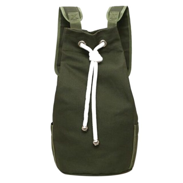 Men's Sport Style Canvas Drawstring Backpack