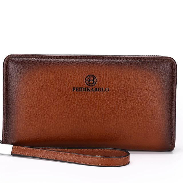 Man's Leather Trifold Wristlet