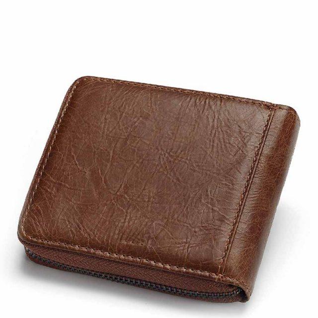Men's Cowboy Style Short Leather Wallet