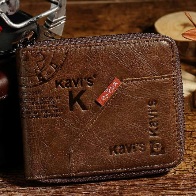 Men's Cowboy Style Short Leather Wallet