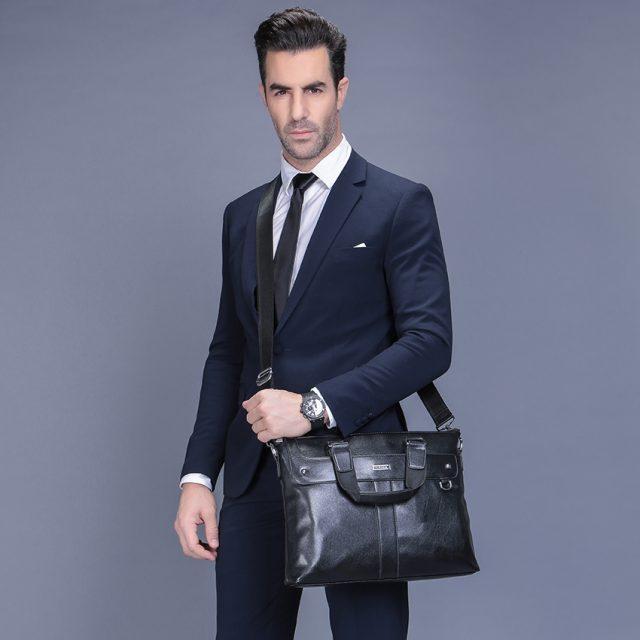 Men's Business Leather Briefcase
