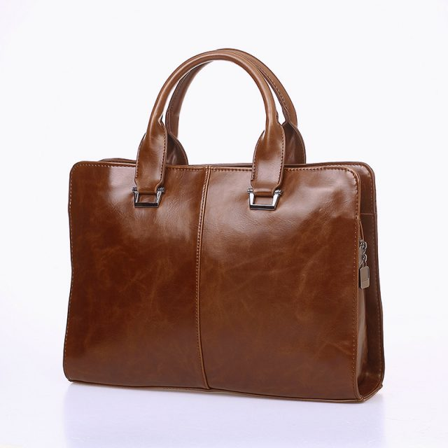 Men's Vintage Office Leather Briefcase