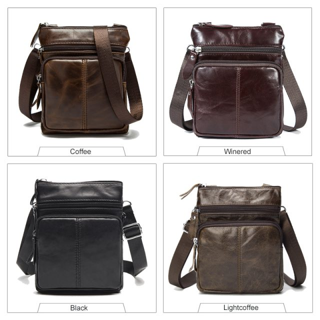 Genuine Leather Men's Shoulder Bag