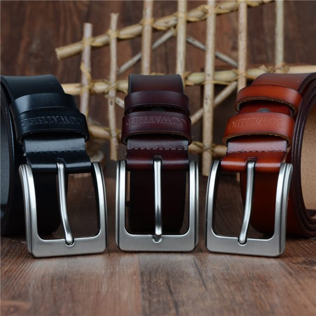 Classic Genuine Leather Belts for Men