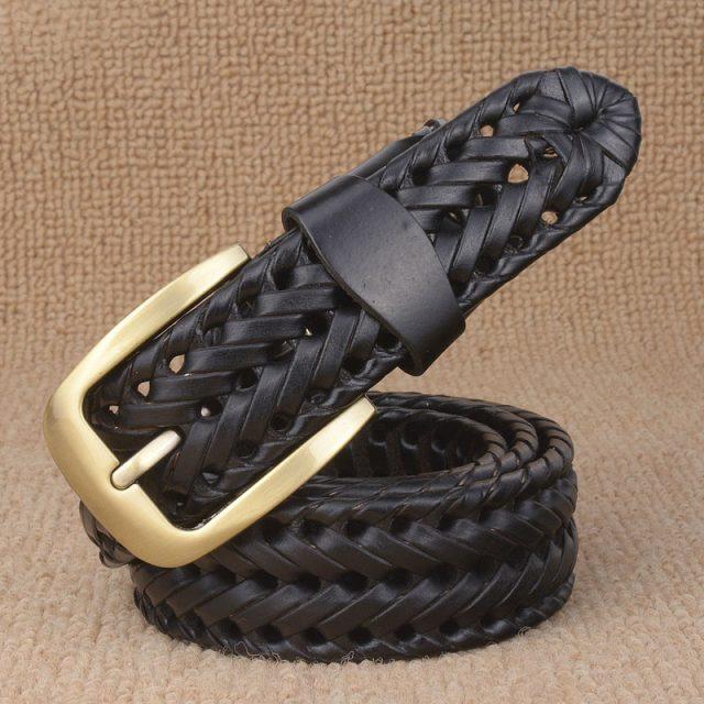 Braided Leather Men's Belt