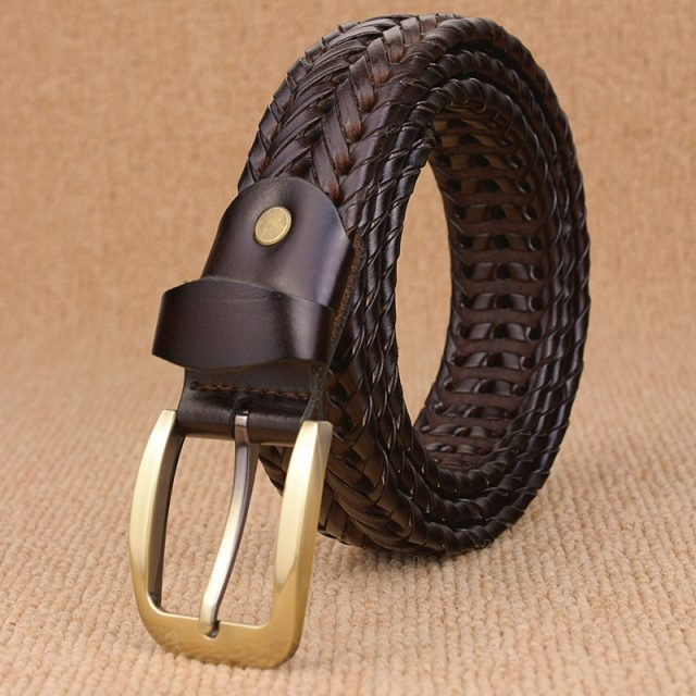 Braided Leather Men's Belt
