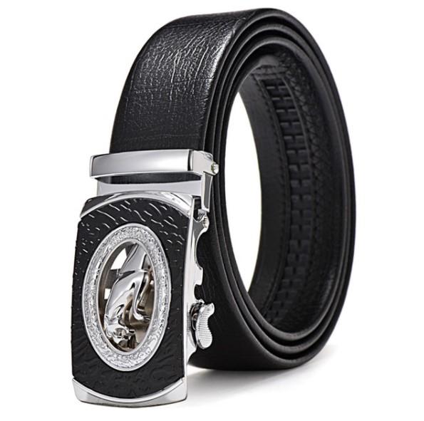 Men's Cowboy Panther Buckle Belt