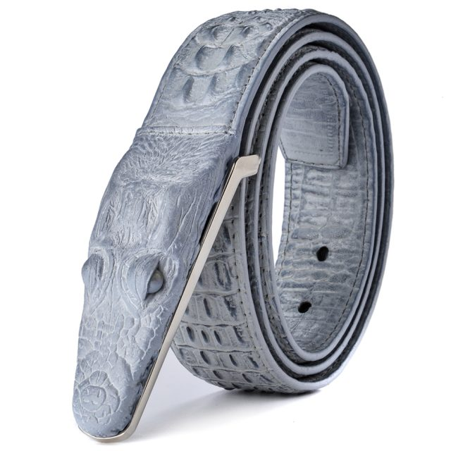 Luxurious Crocodile Imitation Leather Men's Belt