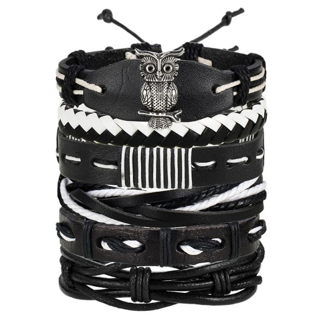 Vintage Multilayer Leather Bracelet for Men