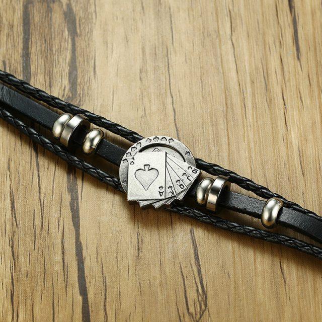Lucky Vintage Men's Leather Bracelet