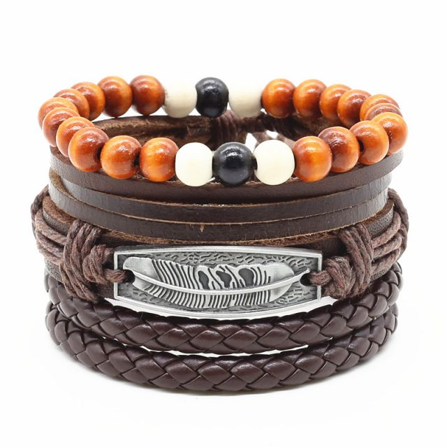 Handmade Multilayer Leather Men's Bracelet