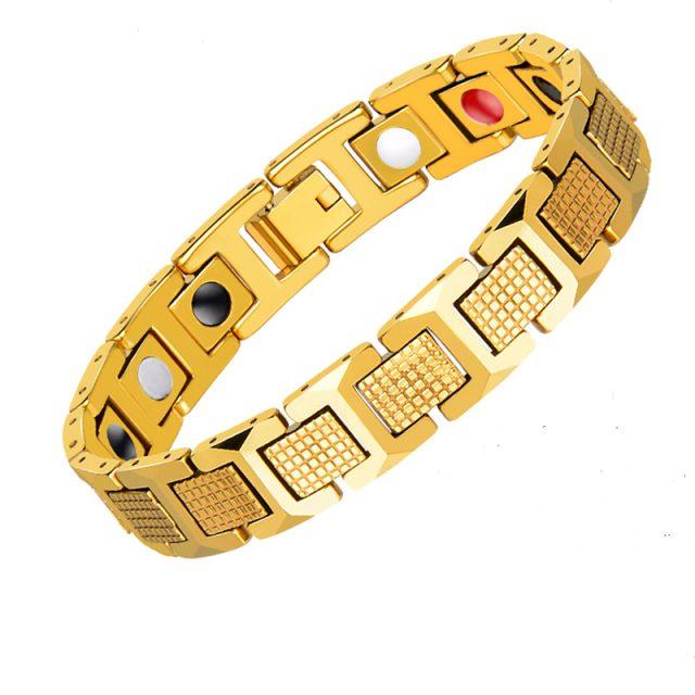 Magnetic Germanium Gold Colour  Bracelets for Men's