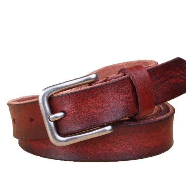Luxury Slim Cowboy Style Genuine Leather Belt